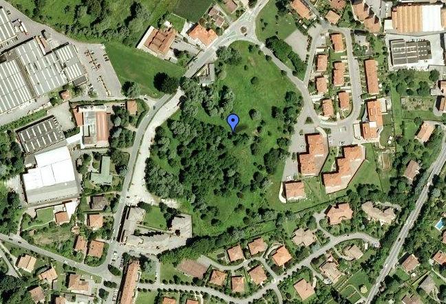 vista dall'alto dell'area interessata dal progetto